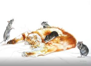 jeanne de chantal nyckees aquarelliste animalier belge peinture au réveil
