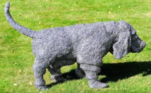 jeanne de chantal nyckees sculpteur sculpture metallique chien basset