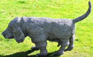 jeanne de chantal nyckees sculpteur sculpture metallique chien basset 4