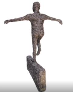 jeanne de chantal nyckees sculpteur sculpture metallique homme equilibriste 3
