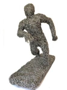 jeanne de chantal nyckees sculpteur sculpture metallique jogging