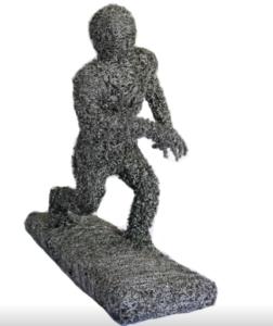 jeanne de chantal nyckees sculpteur sculpture metallique jogging homme 2