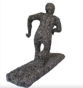 jeanne de chantal nyckees sculpteur sculpture metallique jogging homme