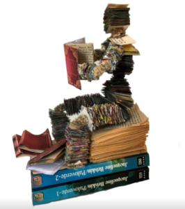 jeanne de chantal nyckees sculpteur sculpture papier lecteur 2