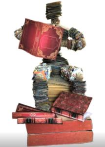 jeanne de chantal nyckees sculpteur sculpture papier lecteur
