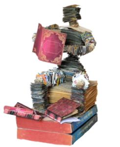jeanne de chantal nyckees sculpteur sculpture papier lecteur 3
