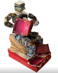 jeanne de chantal nyckees sculpteur sculpture papier lecteur 4
