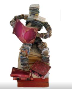 jeanne de chantal nyckees sculpteur sculpture papier lecteur 5