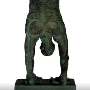 jeanne de chantal nyckees sculpteur terre cuite patine bronze acrobate