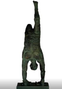 jeanne de chantal nyckees sculpteur terre cuite patine bronze acrobate 2