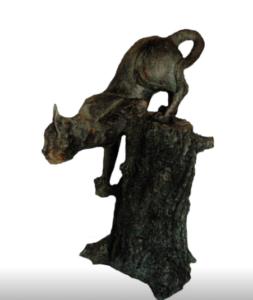 jeanne de chantal nyckees sculpteur terre cuite patine bronze chat