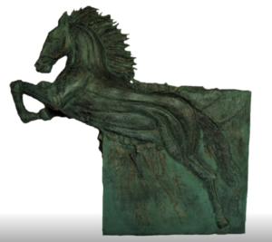 jeanne de chantal nyckees sculpteur terre cuite patine bronze cheval arion