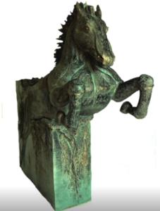 jeanne de chantal nyckees sculpteur terre cuite patine bronze cheval arion 2