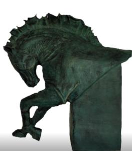 jeanne de chantal nyckees sculpteur terre cuite patine bronze cheval bucephale