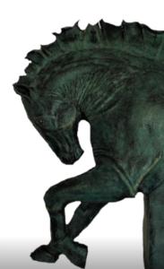 jeanne de chantal nyckees sculpteur terre cuite patine bronze cheval bucephale 2