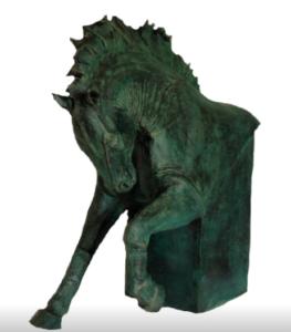 jeanne de chantal nyckees sculpteur terre cuite patine bronze cheval bucephale 3