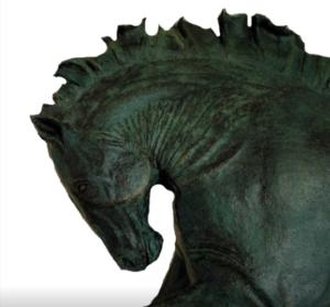 jeanne de chantal nyckees sculpteur terre cuite patine bronze cheval bucephale 4