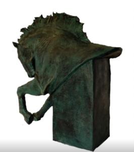 jeanne de chantal nyckees sculpteur terre cuite patine bronze cheval bucephale 5