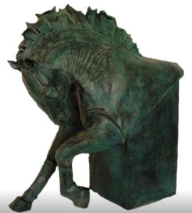 jeanne de chantal nyckees sculpteur terre cuite patine bronze cheval bucephale 6