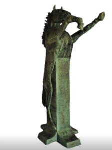 jeanne de chantal nyckees sculpteur terre cuite patine bronze cheval cabré entier 2