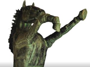 jeanne de chantal nyckees sculpteur terre cuite patine bronze cheval cabré entier 4