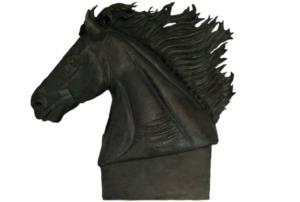 jeanne de chantal nyckees sculpteur terre cuite patine bronze cheval zephir