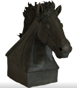 jeanne de chantal nyckees sculpteur terre cuite patine bronze cheval zephir 4