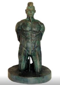 jeanne de chantal nyckees sculpteur terre cuite patine bronze supplicié statue