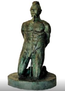 jeanne de chantal nyckees sculpteur terre cuite patine bronze supplicié statue 4