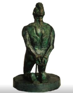 jeanne de chantal nyckees sculpteur terre cuite patine bronze supplicié statue 5