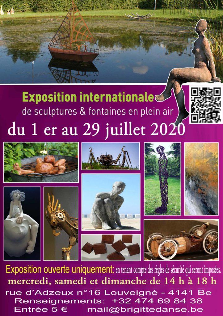 exposition pas à pas de jeanne de chantal nyckees exposition de sculptures en plein air louveigné belgique